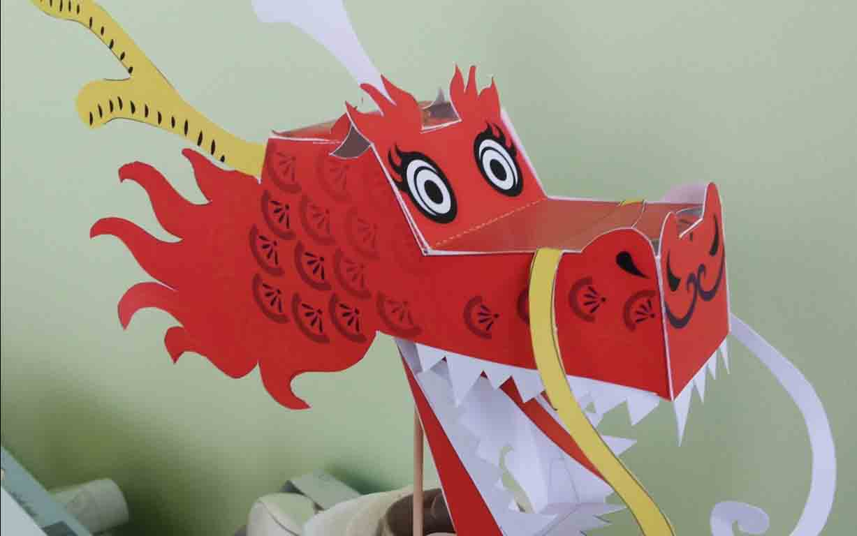 Get your team together and build a Chinese Dragon!