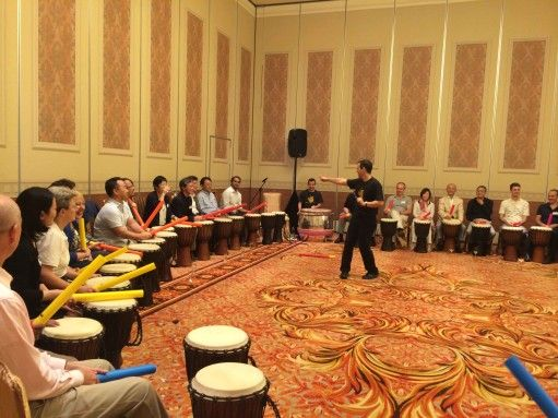 Team Bonding - drumming team building in Macau