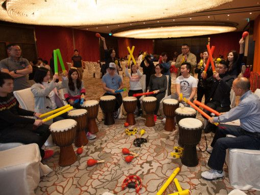 team challenge - drumming team building in Macau